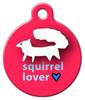 Dog Tag Art White Squirrel Lover Pet ID Dog Tag