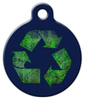Dog Tag Art Recycle Symbol Pet ID Dog Tag