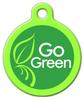 Dog Tag Art Go Green Pet ID Dog Tag