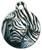 Dog Tag Art Zebra Pet ID Dog Tag
