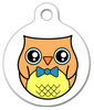 Dog Tag Art Professor Owl Pet ID Dog Tag