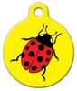 Dog Tag Art Ladybug Pet ID Dog Tag