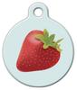 Dog Tag Art Summer Strawberry Pet ID Dog Tag