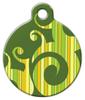 Dog Tag Art Green Stripe Swirl Pet ID Dog Tag