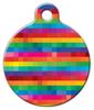Dog Tag Art Rainbow Squares Pet ID Dog Tag
