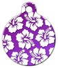 Dog Tag Art Purple Hawaiian Shirt Pet ID Dog Tag