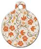 Dog Tag Art Floral Pattern Pet ID Dog Tag