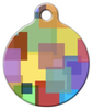 Dog Tag Art Color Squares Pet ID Dog Tag