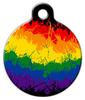 Dog Tag Art Ink Splat Rainbow Pet ID Dog Tag