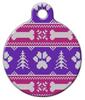 Dog Tag Art Girlie Winter Knit Pattern Pet ID Dog Tag