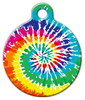 Dog Tag Art Tie Dye Rainbow Pet ID Dog Tag