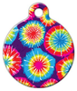 Dog Tag Art Tie Dye Pet ID Dog Tag