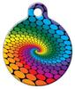 Dog Tag Art Rainbow Swirl Dots Pet ID Dog Tag