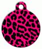 Dog Tag Art Pink Leopard Pet ID Dog Tag