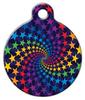 Dog Tag Art Rainbow Star Swirl Pet ID Dog Tag