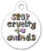 Dog Tag Art Stop Animal Cruelty Pet ID Dog Tag
