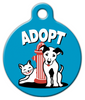 Dog Tag Art Blue Adopt Pet ID Dog Tag