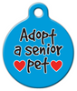 Dog Tag Art Adopt A Senior Pet ID Dog Tag