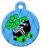 Dog Tag Art Roller Derby Wow Pet ID Dog Tag
