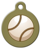 Dog Tag Art Baseball in Sepia Pet ID Dog Tag