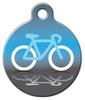 Dog Tag Art Bicycle Icon Pet ID Dog Tag
