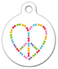 Dog Tag Art Peace and Love Dog Bones Pet ID Dog Tag