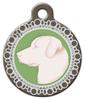 Dog Tag Art Faux Dog Cameo Pendant Pet ID Dog Tag