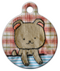 Dog Tag Art Lovely Applique Pup Pet ID Dog Tag