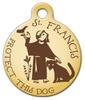 Dog Tag Art St. Francis Protect This Dog Pet ID Dog Tag