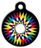 Dog Tag Art Rainbow Prism Burst Pet ID Dog Tag