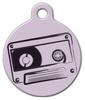 Dog Tag Art Old School Tape Pet ID Dog Tag