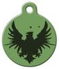 Dog Tag Art Rock Eagle Green Pet ID Dog Tag