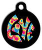 Dog Tag Art Tie Dye Love Pet ID Dog Tag