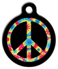 Dog Tag Art Tie Dye Peace Symbol Pet ID Dog Tag