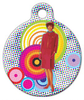 Dog Tag Art Mod Girl Pet ID Dog Tag