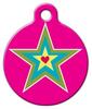 Dog Tag Art Star and Heart Pet ID Dog Tag