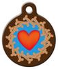 Dog Tag Art Cookie Hearts Pet ID Dog Tag