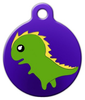 Dog Tag Art Dinosaur Pet ID Dog Tag