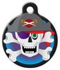 Dog Tag Art Colorful Pirate Skull Pet ID Dog Tag