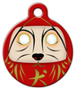 Dog Tag Art Daruma Dog Pet ID Dog Tag
