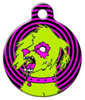 Dog Tag Art Zombie Poodles on the Loose Pet ID Dog Tag