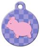 Dog Tag Art Lil Piggie Pet ID Dog Tag