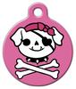 Dog Tag Art Pink Jolly Pup Pet ID Dog Tag