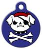 Dog Tag Art Blue Jolly Pup Pet ID Dog Tag