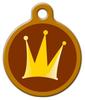 Dog Tag Art The Crown Pet ID Dog Tag