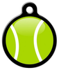 Dog Tag Art My Tennis Ball Pet ID Dog Tag