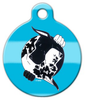 Dog Tag Art Black & Harlequin Great Dane YinYang Pet ID Dog Tag