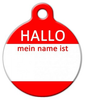 Dog Tag Art Hello My Name Is GERMAN Pet ID Dog Tag