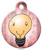 Dog Tag Art Happy Light Bulb Pet ID Dog Tag