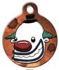 Dog Tag Art Happy Clown Pet ID Dog Tag